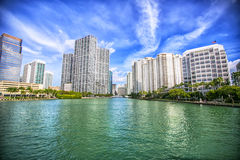 Cityscape of Miami on a sunny day, Florida Stock Photography