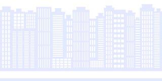 cityscape Miasta tło z drogą, budynkami i niebem, ilustracji