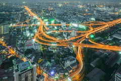 Cityscape in middle of Bangkok,Thailand Royalty Free Stock Photos