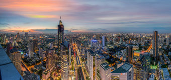 Cityscape in middle of Bangkok,Thailand. 1 Royalty Free Stock Photo