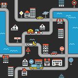 Cityscape minimalism illustration concept Stock Photos