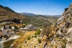 Cityscape, Moclin, Granada, Andalusia, Spain Royalty Free Stock Photos