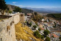 Cityscape, Moclin, Granada, Andalusia, Spain Stock Images