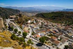 Cityscape, Moclin, Granada, Andalusia, Spain Stock Photography
