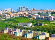 Cityscape modern architecture Lisbon, Porutgal stock images