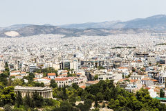 Cityscape of modern Athens Royalty Free Stock Image