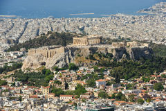 Cityscape of modern Athens, Greece Royalty Free Stock Images
