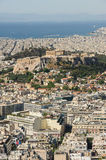 Cityscape of modern Athens, Greece Stock Image