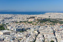 Cityscape of modern Athens, Greece Royalty Free Stock Image