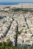 Cityscape of modern Athens, Greece Stock Images