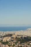Cityscape of modern Athens, Greece Royalty Free Stock Photos