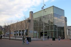 Cityscape with modern building of Van Gogh Museum in Amsterdam Stock Images