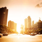 Cityscape of modern city Stock Image