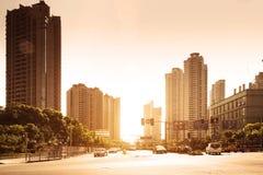 Cityscape of modern city Stock Photos