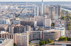 Cityscape of modern city part, Paris, France Stock Image