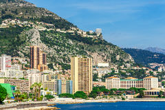 Cityscape of Monaco and Port Hercule Royalty Free Stock Photos