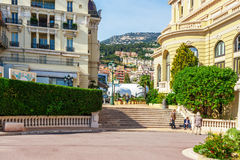 Cityscape of Monaco and Port Hercule Royalty Free Stock Images