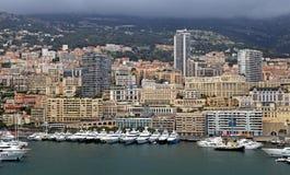 Cityscape of Monte Carlo and Hercules Harbor , Monte Carlo, Mona Stock Image