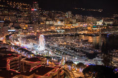 Cityscape of Montecarlo from the castle royalty free stock photo