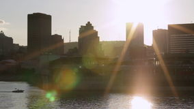 Cityscape of montreal from elevated position stock video footage
