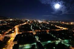 Cityscape at moonlight Royalty Free Stock Photos