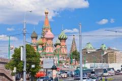 cityscape moscow Royaltyfri Bild