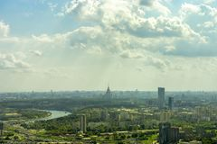 Cityscape of Moscow city Royalty Free Stock Photo