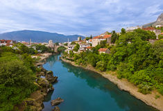 Cityscape of Mostar - Bosnia and Herzegovina Stock Image