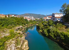 Cityscape of Mostar - Bosnia and Herzegovina Royalty Free Stock Photos