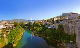 Cityscape of Mostar - Bosnia and Herzegovina Stock Image