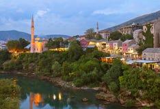 Cityscape of Mostar - Bosnia and Herzegovina Stock Photo