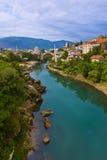 Cityscape of Mostar - Bosnia and Herzegovina Stock Photos