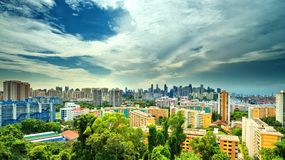 Cityscape from Mount Faber Royalty Free Stock Photography