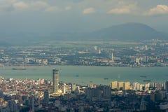 Cityscape with mountain Stock Photos