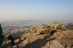 Cityscape from mountains Stock Photography