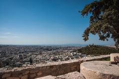 Cityscape with mountains at Athens, Attika, Greece Royalty Free Stock Images
