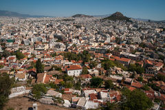 Cityscape with mountains at Athens, Attika, Greece Stock Images