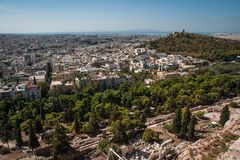 Cityscape with mountains at Athens, Attika, Greece Stock Photography