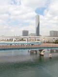 Cityscape with multilevel bridge Stock Photos