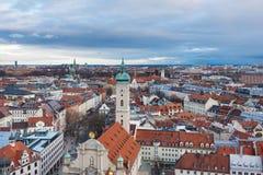 cityscape munich Arkivbilder