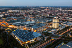 Cityscape of Munich at dusk Royalty Free Stock Images