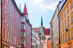 Cityscape in Munich old city center royalty free stock photo