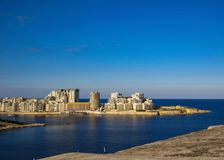 Cityscape with new modern buildings in Malta, Europe stock images
