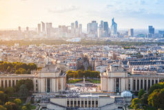 Cityscape of new Paris City, France Royalty Free Stock Images