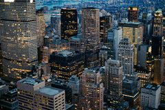cityscape New York Royaltyfri Bild