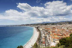 Cityscape of Nice and the coast line, France Stock Image