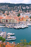 Cityscape of Nice(France), harbor view from above Stock Images