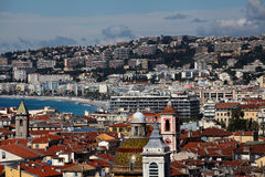 Cityscape of nice. Old town. New town. Royalty Free Stock Photography