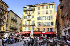 Cityscape of Nice, Place Rossetti, France Royalty Free Stock Photos