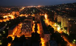 Cityscape at night Stock Image